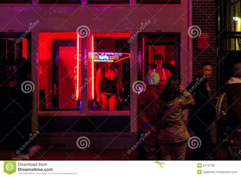 Nightclub Floor Plans by Red Light District Windows At Amsterdam Editorial