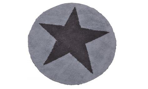 rund teppich wende teppich rund mit blau grau waschbar baumwolle