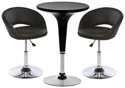 Bar Table And Stool Set Black Bar Table And Stool Sets Lightweight Design