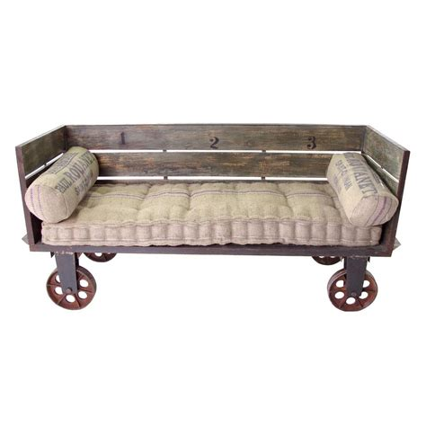 sofa on wheels limoges french industrial large sofa cart kathy kuo home