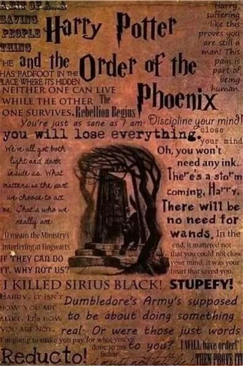 harry potter and the order of the book report order of the quotes harry potter
