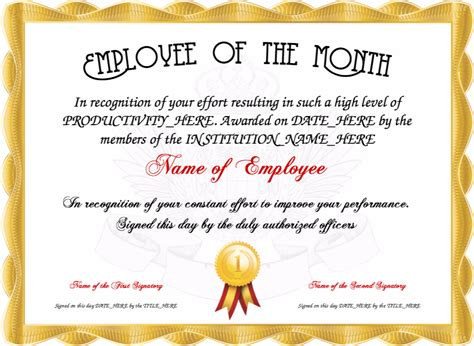 employee of the quarter certificate template resume responsibilities sle certificate of recognition