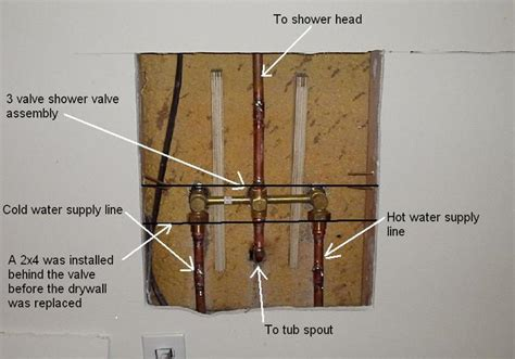 shower faucet installation