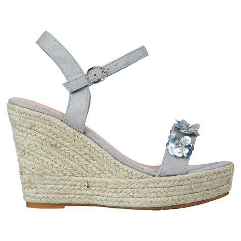 Wedges Flowers W 91 coleen womens high wedges heels platform sequin floral sandals shoes size ebay