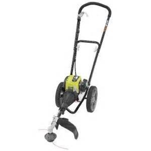 wacker home depot ryobi 4 cycle 30cc gas wheeled trimmer ry13016 the home