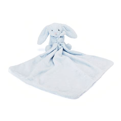 Comfort Blankie by Buy Bashful Blue Bunny Soother At Jellycat