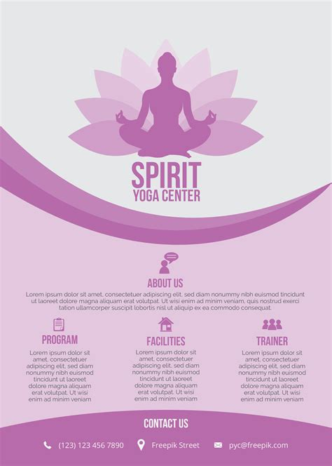 Templates For Yoga Flyers | 20 distinctive yoga flyer templates free for professionals