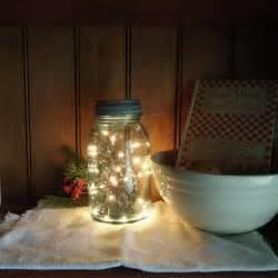 Mason Jar Decorations Country Primitive Christmas Decor Vintage Christmas Mason Jar Ligh