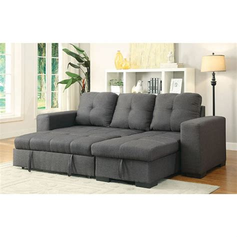 Sleeper Sofa With Chaise And Storage by Furniture Of America Sectional W Storage Chaise And Sofa
