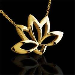 Lotus Flower Pendant Sacred Lotus Flower Buddhist Symbol Pendant 14k Gold