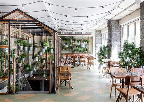 House Design With Interior Garden Design Studio Creates An Indoor Garden For A Restaurant
