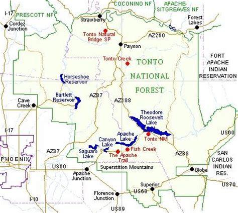 tonto national forest map   adriftskateshop