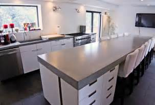modern kitchen countertops concrete kitchen tops and island modern kitchen