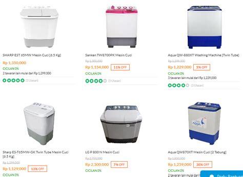 Mesin Cuci 2 Tabung Merk Cina daftar harga mesin cuci samsung terbaru januari 2018