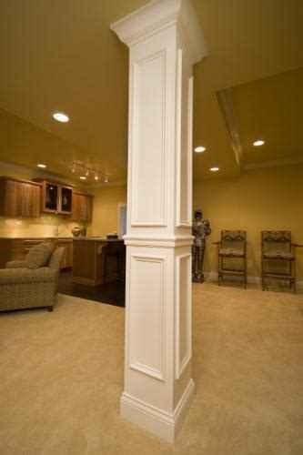 basement support posts how to cover a support pole in the basement debi carser designs
