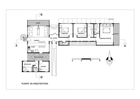 Cargo Container Floor Plans | bright cargo container casa in chile