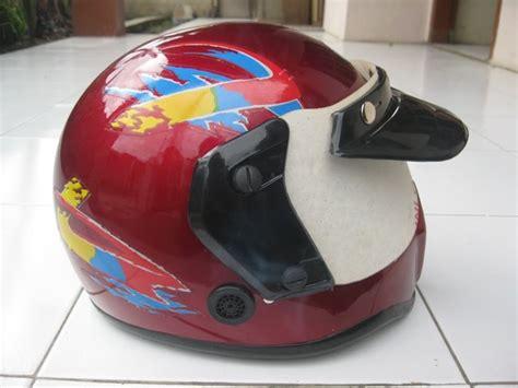 Helm Jadul Model Chips retromeneer antique gallery vintage helmet helm cakil merah