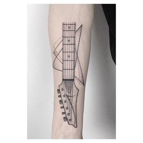 geometric tattoo guitar 10 guitar tattoos that rock tattoodo