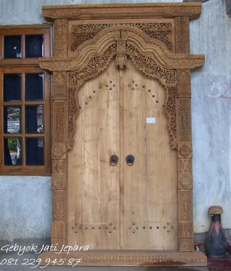 Gebyok Pintu Gebyok Ukir Jawa Pintu Rumah Kusen gebyok jepara harga murah pintu jati gebyokjatijepara