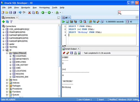 oracle tutorial for mysql users exles use of dual table in oracle database exle