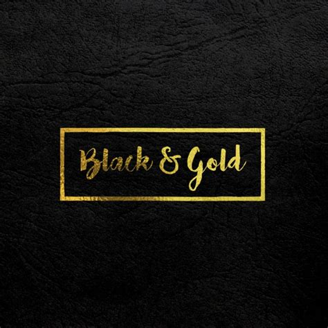 Logo Gold Black gold logo mock up on black leather psd file free