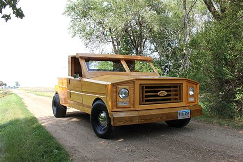 truck made custom built all wood ford truck