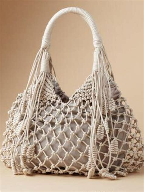 Macrame Bag Pattern - diy macrame bag pinteres