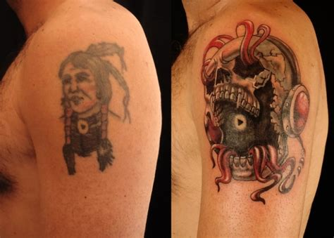 man covered in tattoos coverups ny shop cover up design