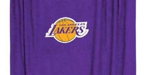lakers curtains los angeles lakers sideline shower curtain for 39 60 from