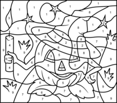 Free Coloring Pages Of Halloween Numbers Color By Number Pumpkin