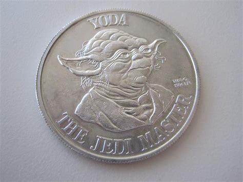 Coin Starwars wars 1984 potf coin yoda