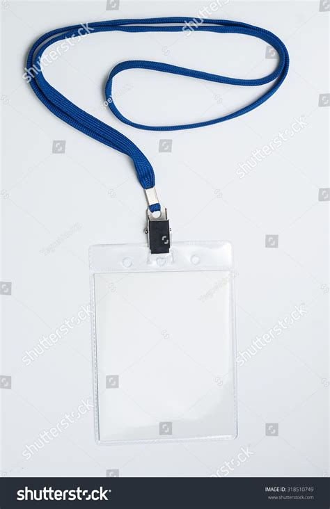 Lanyard Badge Conference Badge Blank Badge Stock Photo 318510749 Shutterstock Lanyard Name Badge Template