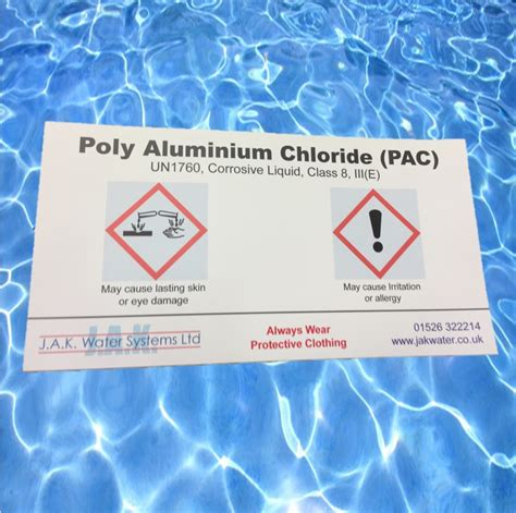 poly aluminium chloride label jak water