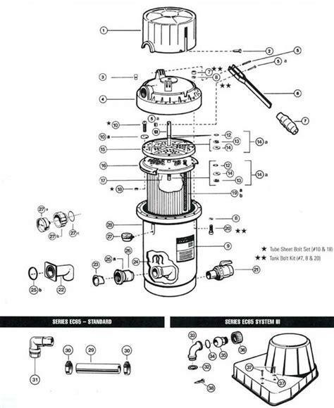 pool filter valve diagram hayward perflex ec65 ec75 filter parts diagram