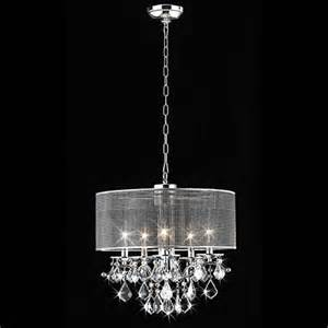 Warehouse Of Chandelier Shop Warehouse Of 18 In 5 Light Chrome Drum
