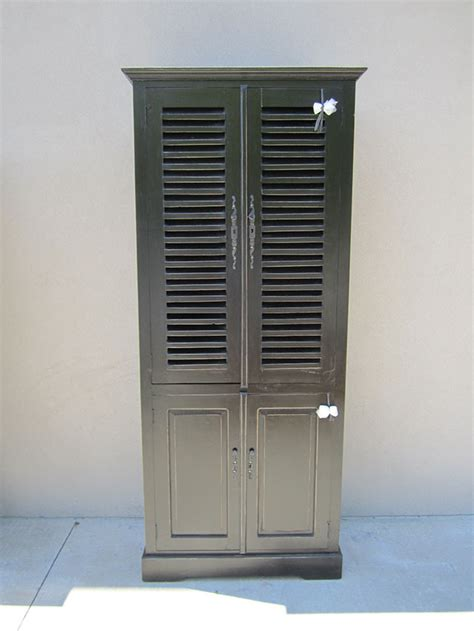 Louvered Cabinet by Four Door Louvered Cabinet Nadeau Raleigh