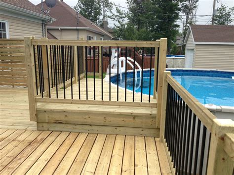 patio piscine patios decks piscine patio bois trait 233