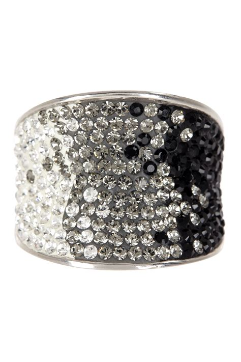candela sterling silver pave ombre ring
