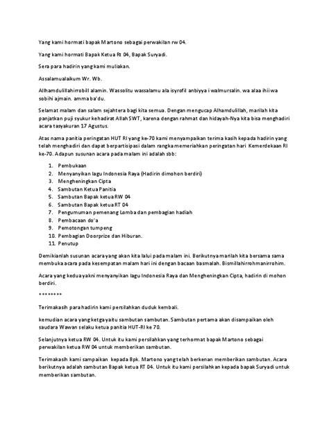 contoh naskah mc untuk acara tujuh belasan linda fatmawati