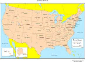 united state map of states and capitals united states labeled map
