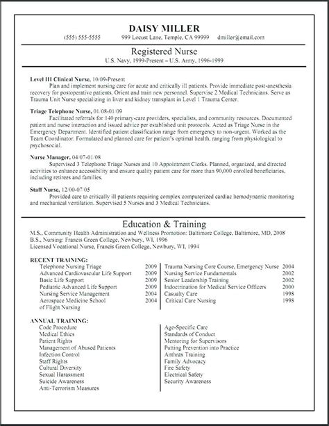 er responsibilities resume sle cna certified nursing