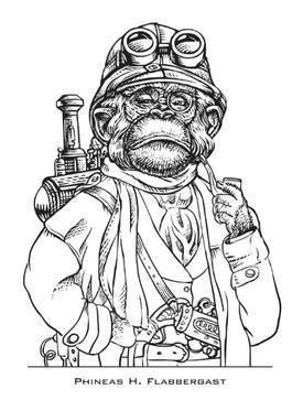 Steampunk monkey coloring book / Boing Boing