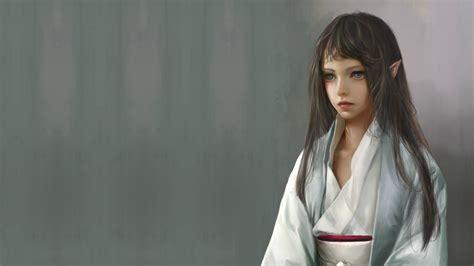 girl wallpaper qhd download wallpaper 2560x1440 fantasy girl elf kimono qhd