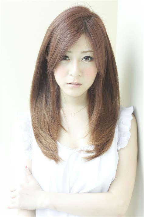 japanese haircut with long front pieces 愛されナチュラルストレート 銀座の美容室 afloat japanのヘアスタイル rasysa らしさ