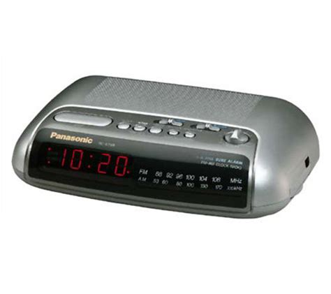 panasonic rc 6288 am fm dual alarm clock radio e93281 qvc