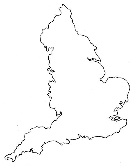 Britain Counties Outline Map by Blank Map Of
