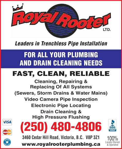 Plumbing Bc by Royal Rooter Plumbing Drain Cleaning Ltd Saanich Bc