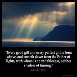 The God Of All Comfort Kjv James 1 17 Inspirational Image