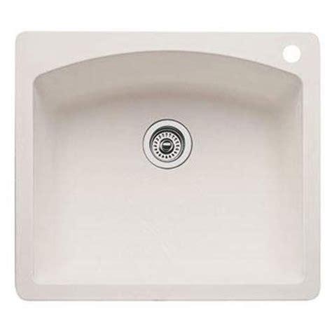 blanco biscuit sink blanco 440212 single bowl drop in silgranit ii