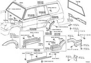 Toyota Parts Catalog Moulding Lj95l Gkmrs Land Cruiser 90 Gr